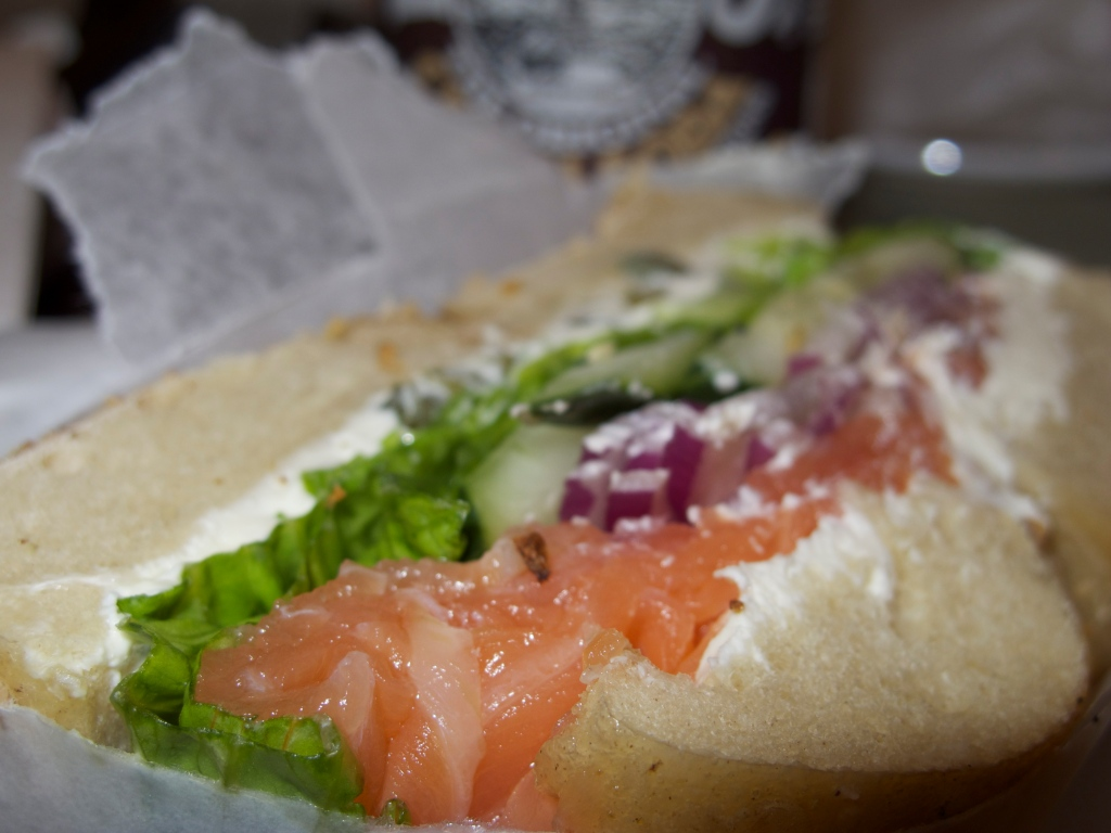 Bagels and Lox as they should be at Ess-a-Bagel