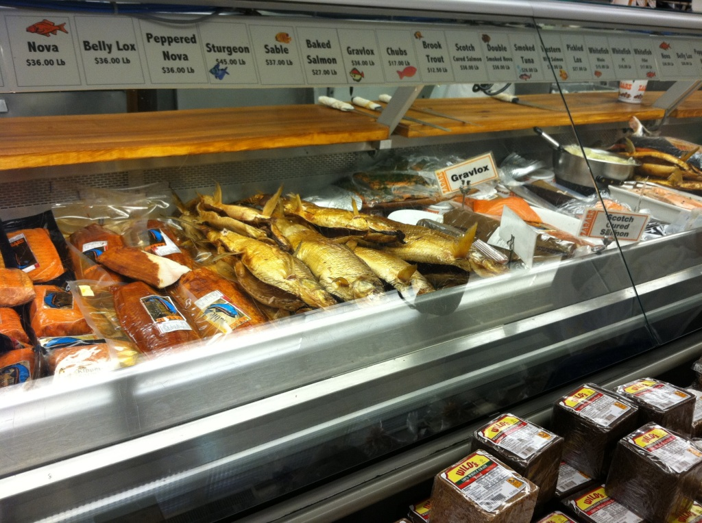 Zabar's smoked fish counter - one of a kind