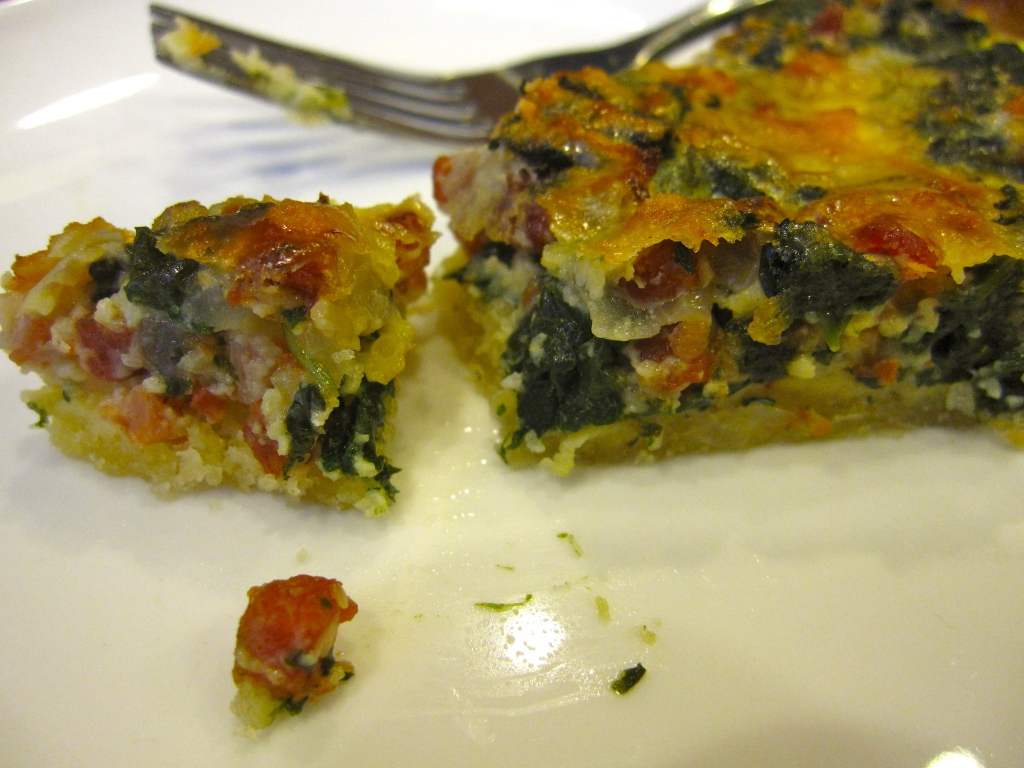 Dorie Greenspan's Spinach and Bacon Quiche