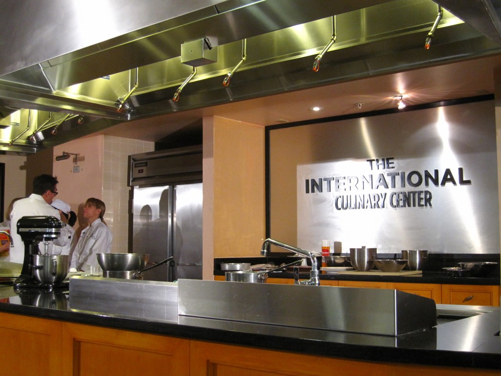 The demo kitchen at the Int'l Culinary Center