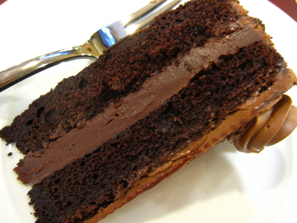 Emily Luchetti's chocolate layer cake