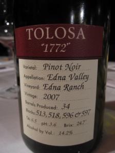 Tolosa Winery San Luis Obispo