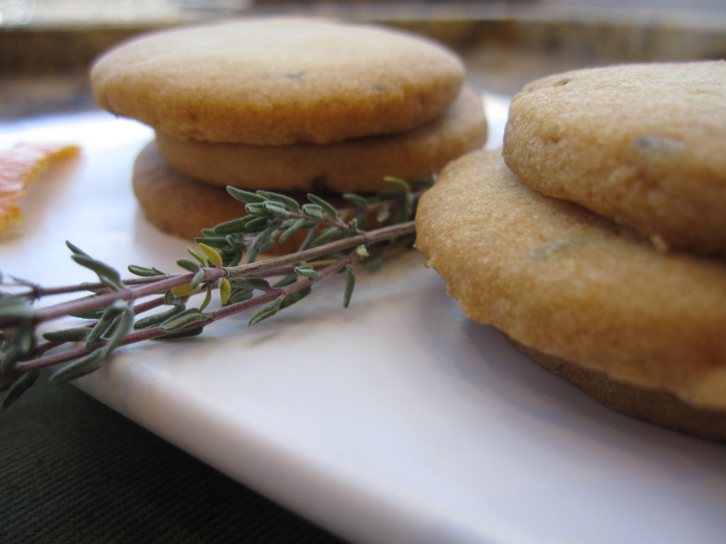 Orange Thyme Cocktail Cookies