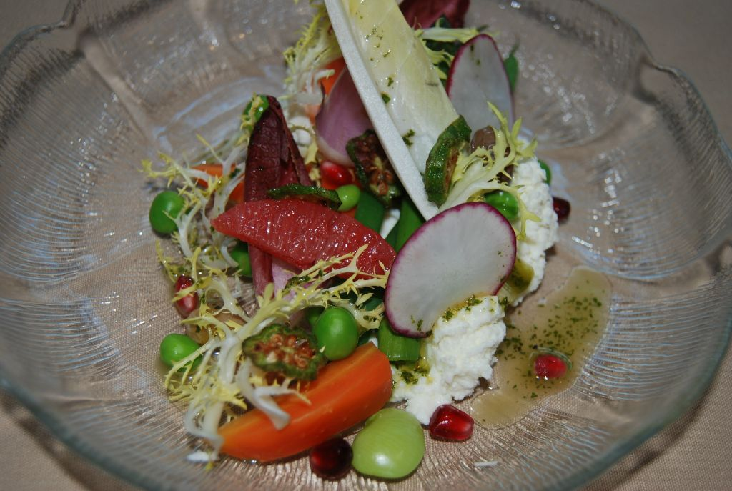 Chef Michael Moore's salad with cheese