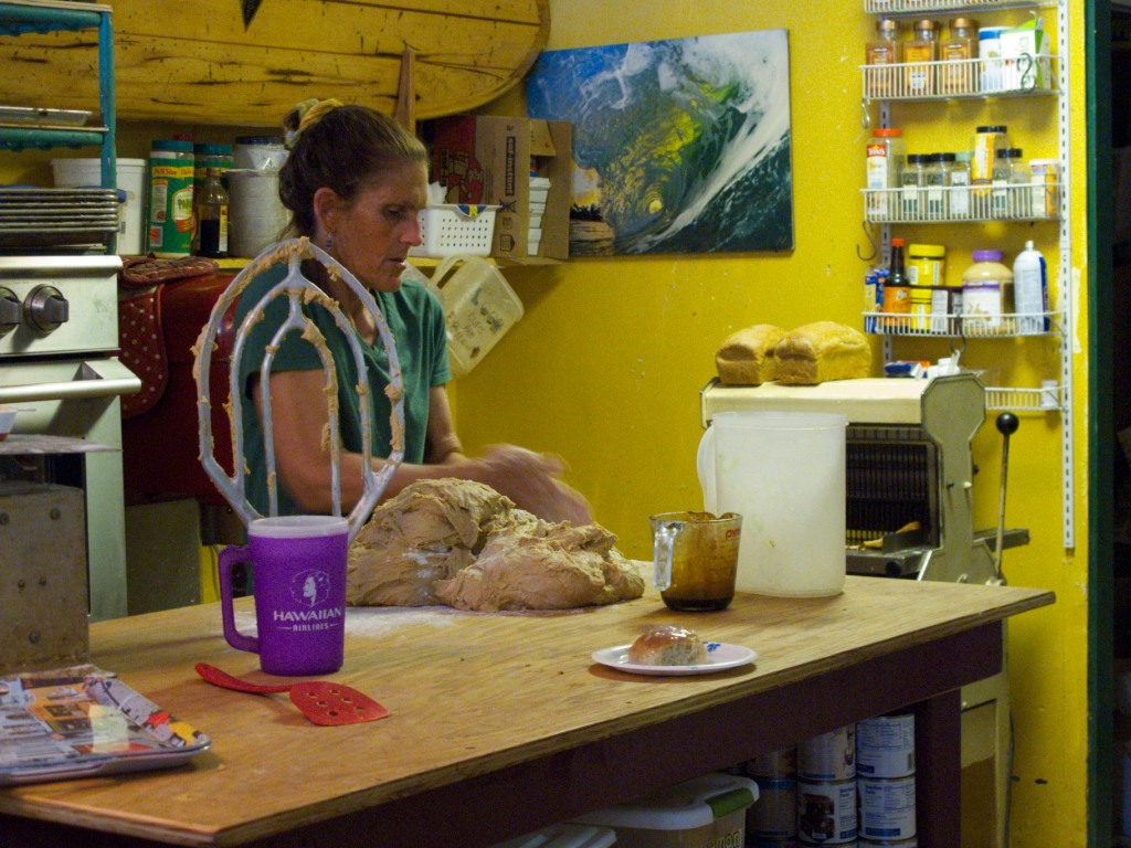 The kitchen at Waialua Bakery