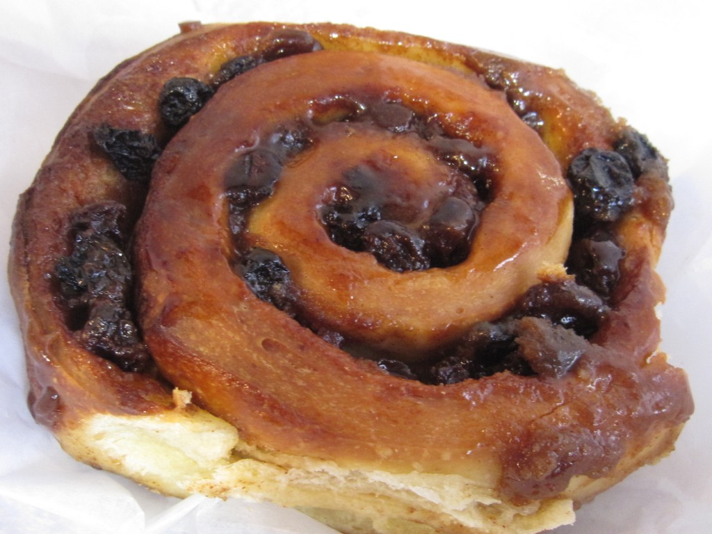 Palate-pleasing brioche sticky bun with raisins