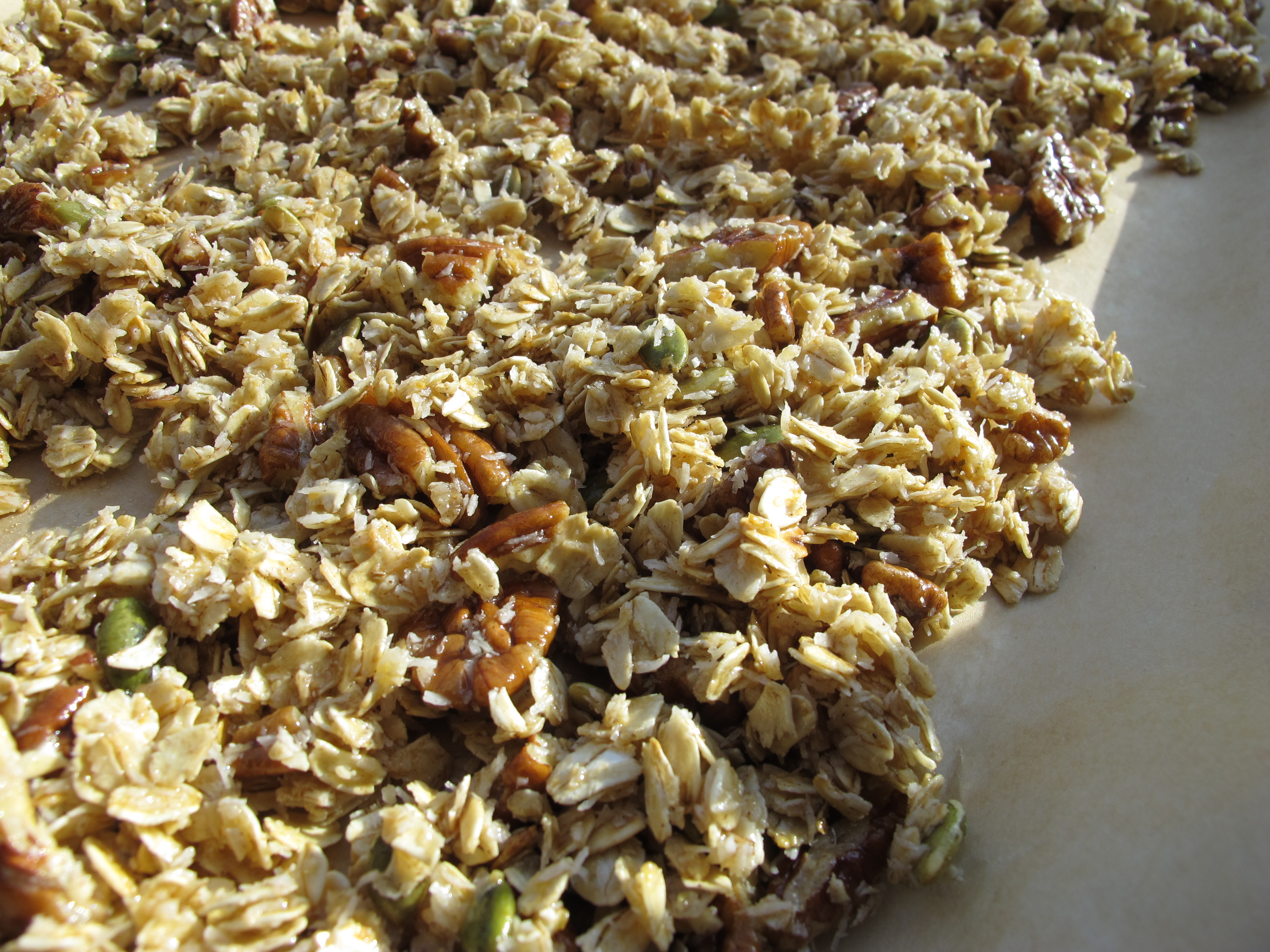 Agave-sweetened Pecan Coconut Granola – The Marriage of Two Great ...