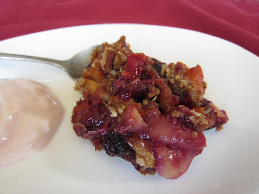 Versatile fresh fruit crisp
